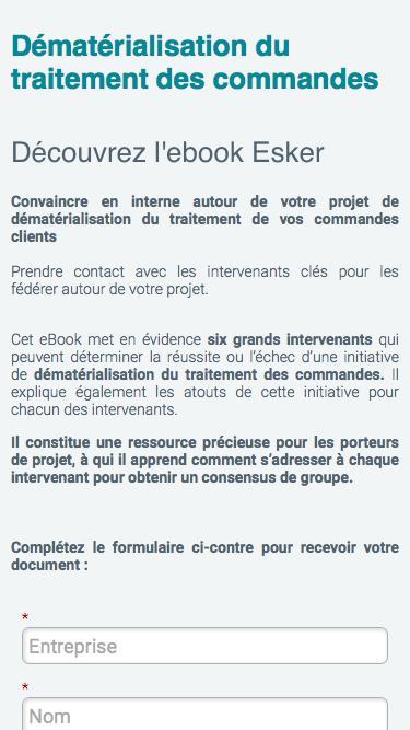 Ebook - Dématérialisation des Commandes clients - Ebook Esker