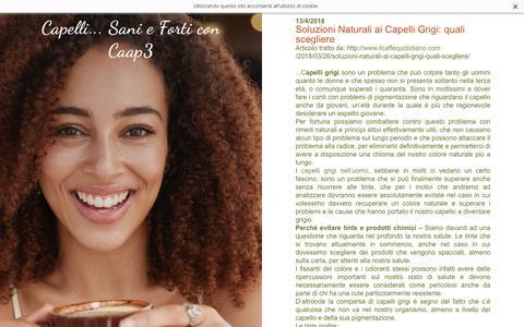 Screenshot of Blog caap3.com - Capelli... Sani e Forti con Caap3 - Blog e curiosità - captured April 27, 2018
