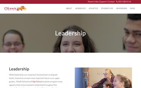 Screenshot of Team Page cslewisacademy.com - Leadership | C.S. Lewis Academy | Private K–12 Christian School in Newberg, OR - captured July 14, 2018
