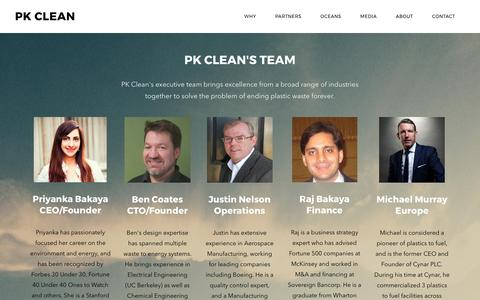 Screenshot of Team Page pkclean.com - Team - PK Clean - captured May 9, 2017