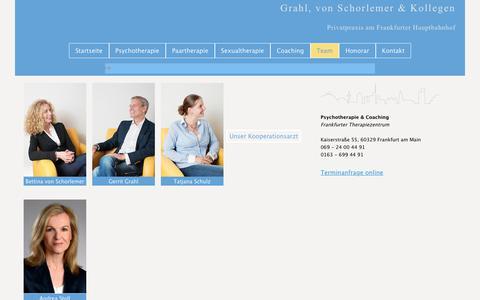 Screenshot of Team Page frankfurter-therapiezentrum.de - Frankfurter Therapiezentrum - Team - captured June 9, 2018