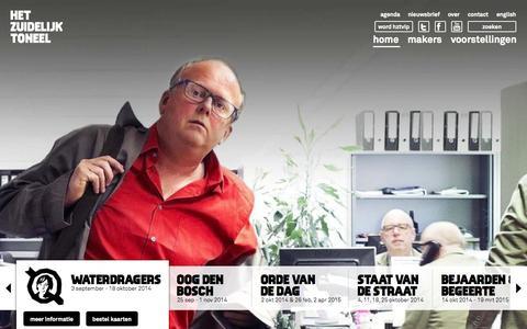 Screenshot of Home Page hzt.nl - HZT | Het Zuidelijk Toneel - captured Oct. 2, 2014