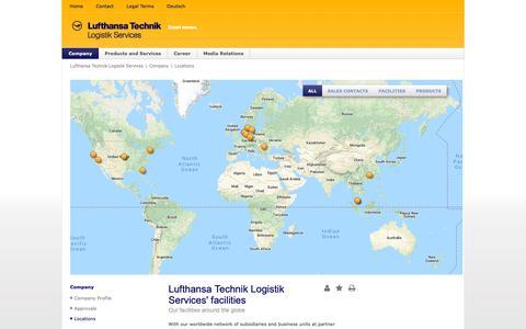 Screenshot of Locations Page ltls.aero - Locations - Lufthansa Technik Logistik Services - captured Sept. 30, 2018