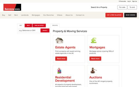 Screenshot of Services Page bairstoweves.co.uk - View our range of services available from home insurance to mortgages plus much more - captured Nov. 22, 2016