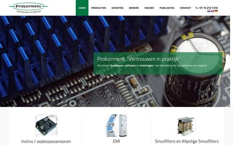 Screenshot of Home Page prokorment.nl - Home - Prokorment – vertrouwen in praktijk - captured May 24, 2017