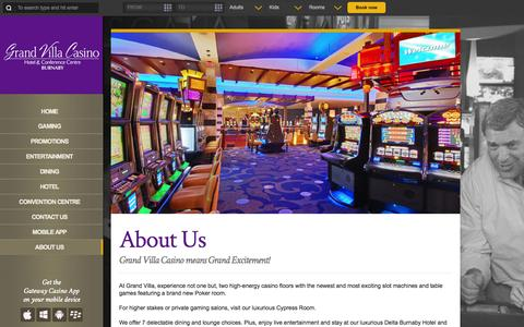 Screenshot of About Page grandvillacasino.com - About Us | Grand Villa Casino - captured Sept. 30, 2014
