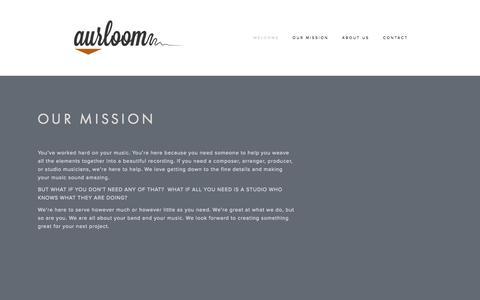 Screenshot of Home Page aurloom.com - Aurloom - captured Oct. 4, 2014