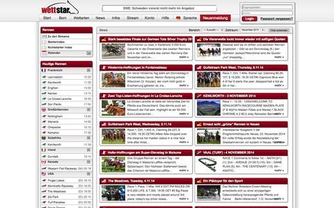 Screenshot of Press Page wettstar.de - Pferdewetten - wettstar.de - captured Nov. 5, 2014