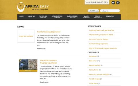 Screenshot of Press Page africaeasy.com - News Archives | Africa Easy - captured May 29, 2017