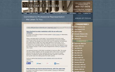 Screenshot of Blog bruerslaw.com - Los Angeles Divorce Law Blog   Law Office of Stuart E. Bruers - captured Oct. 2, 2014
