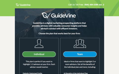 Screenshot of Signup Page guidevine.com - GuideVine - Join - captured July 25, 2018