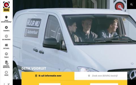 Screenshot of Home Page bovag.nl - BOVAG-bedrijven en -garages | Bovag.nl - captured July 27, 2016