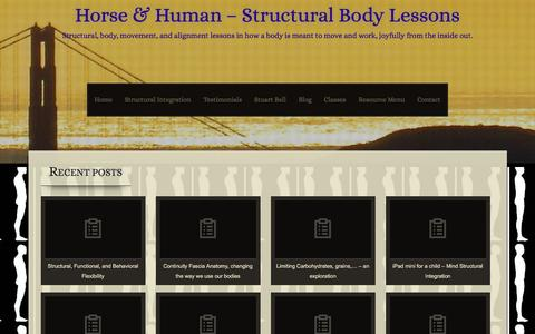 Screenshot of Blog bodybeliefs.com - Blog - Horse & Human - Structural Body Lessons - captured Dec. 5, 2015
