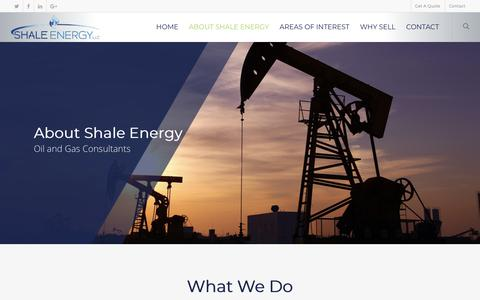 Screenshot of About Page shaleenergyllc.com - Professional Consultants - Oil and Gas - captured Nov. 15, 2018