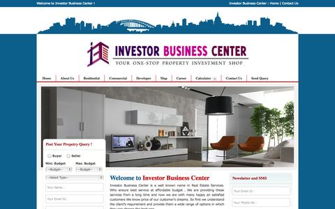 Screenshot of Home Page Privacy Page Site Map Page investorbusinesscentre.com - Real Estate Investing Company Noida - Provide Properties, Projects, Services & Consultants Agents in Noida- Investor Business Centre (IBC) - captured Oct. 8, 2014