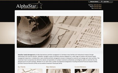 Screenshot of Home Page Privacy Page alphastarcm.com - AlphaStar Capital Management - Cornelius, NC - captured Oct. 4, 2014