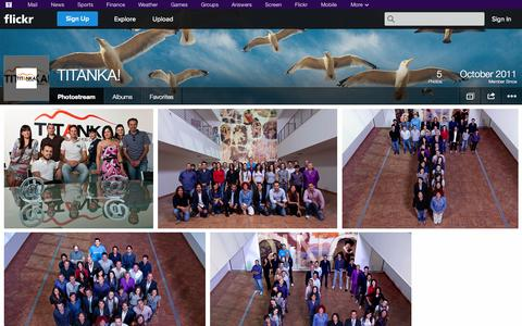 Screenshot of Flickr Page flickr.com - Flickr: TITANKA!'s Photostream - captured Oct. 26, 2014