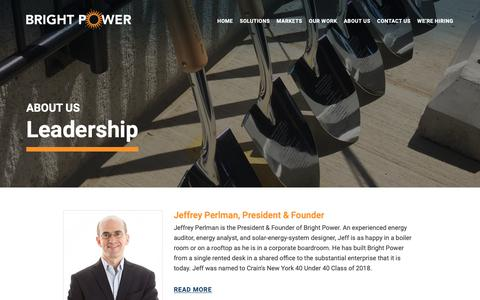 Screenshot of Team Page brightpower.com - Meet Our Leadership Team - Bright Power - captured Feb. 6, 2019