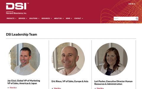 Screenshot of Team Page datasci.com - Leadership - captured Oct. 7, 2018