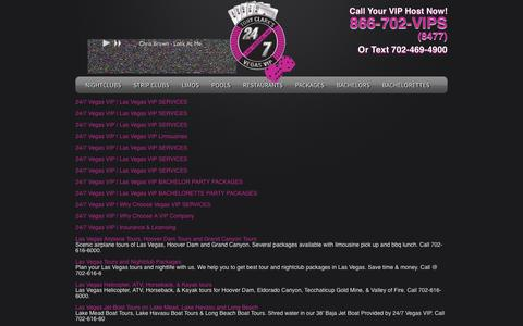 Screenshot of Site Map Page 24-7vegasvip.com - 24/7 Vegas VIP | Sitemap - captured Oct. 27, 2014