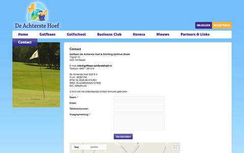 Screenshot of Contact Page golfbaan-achterstehoef.nl - Contact opnemen met Golfbaan De Achterste Hoef - captured Aug. 28, 2017