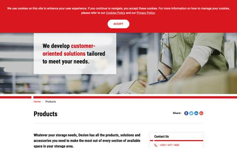 Screenshot of Products Page dexion.ie - Products | Dexion - captured Dec. 19, 2018