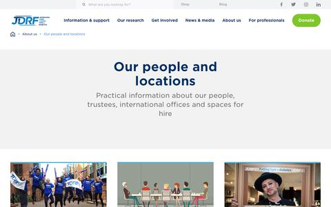 Screenshot of Team Page jdrf.org.uk - Our people and locations - JDRF - captured Oct. 1, 2018