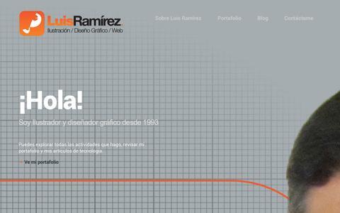 Screenshot of Home Page luisraa.com - Luis Ramírez - Ilustrador - Pagina Web oficial de LuisRaa - captured Dec. 14, 2015