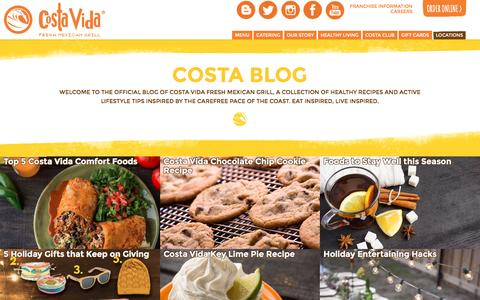 Screenshot of Blog costavida.net - BLOG | Costa Vida - Fresh Mexican Grill - captured Dec. 22, 2015