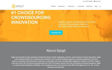 About Spigit - Spigit