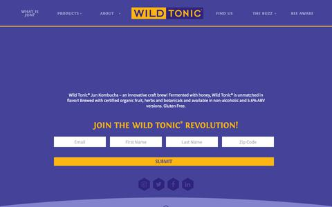Screenshot of Products Page wildtonic.com - Products ~ Wild Tonic Jun Kombucha - captured Oct. 20, 2018