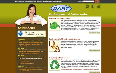 Screenshot of Menu Page dart.biz - Dart Environmental Information - captured Sept. 23, 2014