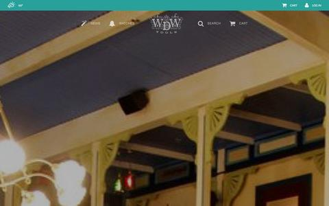 Screenshot of Home Page wdwtools.com - WDWTools - captured Jan. 10, 2016