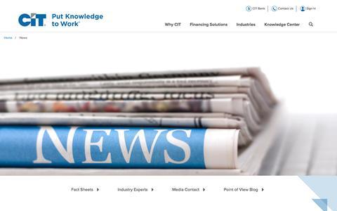 Screenshot of Press Page cit.com - News - captured April 14, 2016