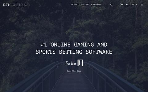 Screenshot of Home Page betconstruct.com - #1 Online Gaming and Sports Betting Software | BetConstruct - captured Oct. 25, 2017