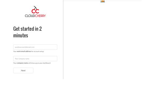 Screenshot of Signup Page getcloudcherry.com - CloudCherry Sign Up - captured Nov. 7, 2016