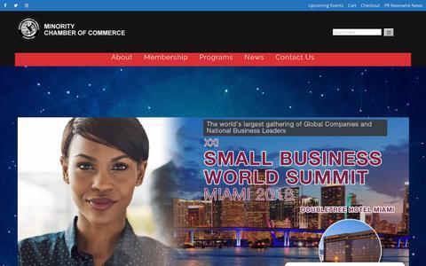 Screenshot of Home Page minoritychamber.net - US Minority Chamber of Commerce | Washington, D.C. - captured Oct. 18, 2018