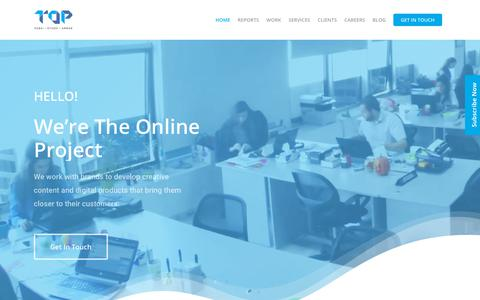 Screenshot of Home Page theonlineproject.me - Social Media Agency Dubai, Riyadh, Amman | The Online Project - captured Jan. 18, 2020