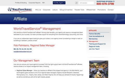 Screenshot of Team Page worldtravelservice.com - WorldTravelService® Management | Independently Owned Mid-Atlantic Travel Agency | WorldTravelService® - captured Oct. 23, 2017