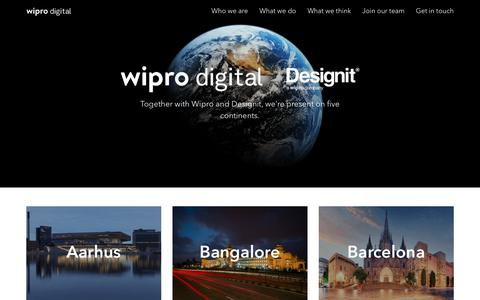 Screenshot of Contact Page Locations Page wiprodigital.com - Get In Touch - Wipro Digital - captured Oct. 22, 2018
