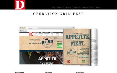 Screenshot of Case Studies Page dmagazine.com - Operation Grillfest | About D Magazine - captured Jan. 26, 2017