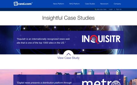 Screenshot of Case Studies Page brand.com - Client Case Studies | Brand.com™ - captured Nov. 2, 2014