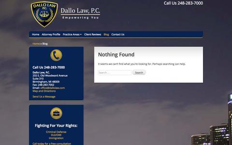 Screenshot of Blog dallolaw.com - Dallo Law, P.C. - Empowering You - captured Nov. 3, 2014