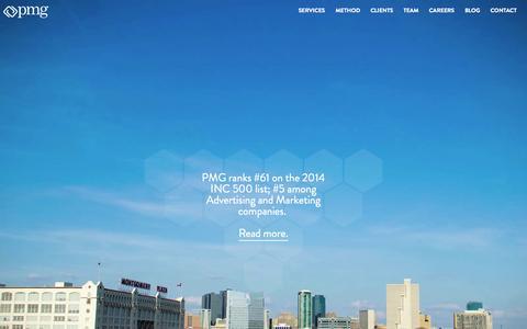 Screenshot of Home Page pmg.co - PMG : Digital Marketing Agency - captured Sept. 18, 2014