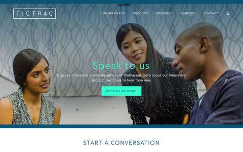 Screenshot of Contact Page tictrac.com - Contact – Tictrac - captured Sept. 21, 2018