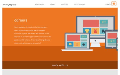 Screenshot of Jobs Page orangegrovedesigns.co.uk - Web Design Careers | OrangeGrove Web Design Agency Reading - captured Sept. 20, 2018