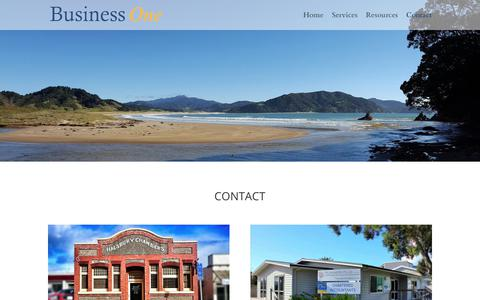 Screenshot of Contact Page businessone.co.nz - Contact - Business One - captured Oct. 7, 2018