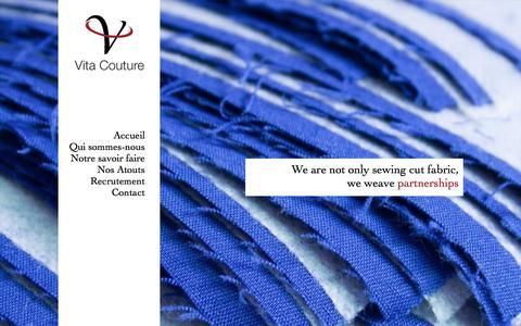 Screenshot of Home Page vita-couture.com - Vita Couture - captured Aug. 13, 2016