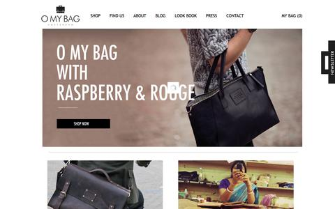 Screenshot of Home Page omybag.nl - Home - O My Bag - captured Sept. 30, 2014