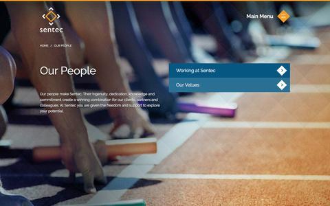 Screenshot of Team Page sentec.co.uk - Our People | Sentec - captured Feb. 16, 2016
